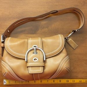 Coach natural leather 10577 Hobo MINT